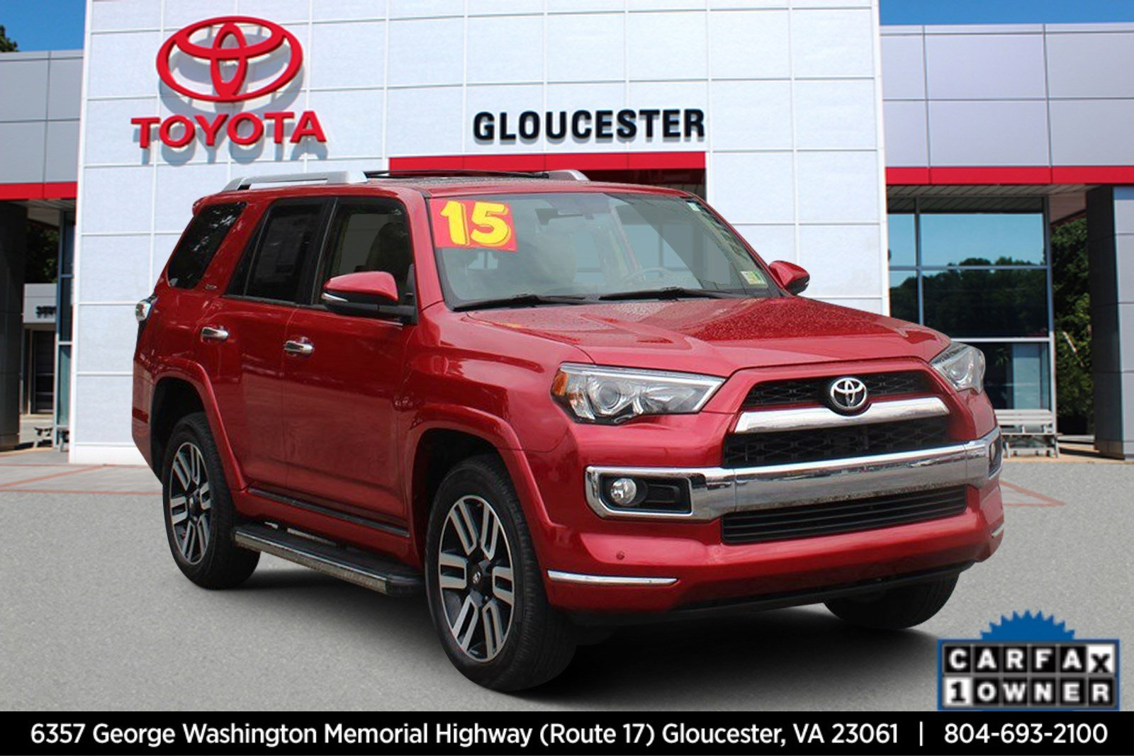 pre-owned 2015 toyota 4runner limited sport utility in gloucester